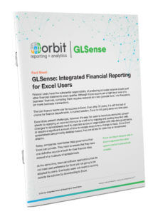 Orbit GLSense for Financial Reporting Fact Sheet