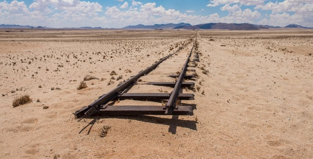 end of the railroad tracks