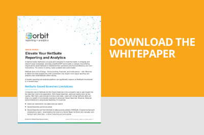 Elevate Your NetSuite Reporting and Analytics - Download Whitepaper