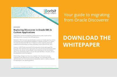 Replacing Discoverer in Oracle EBS & Custom Applications - Download Whitepaper