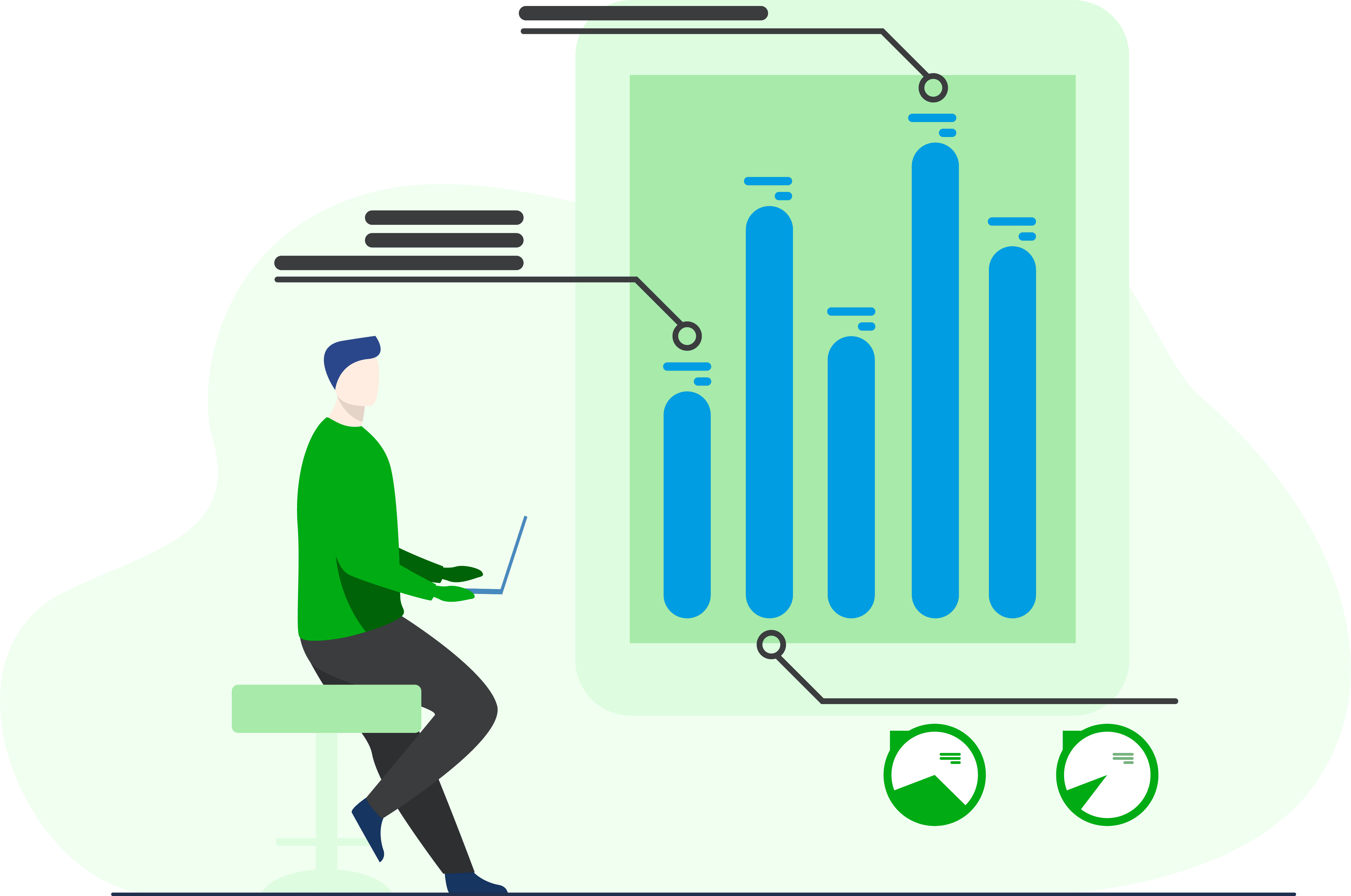 bar chart illustration