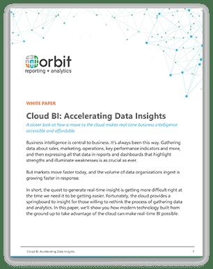 Cloud BI: Accelerating Data Insights