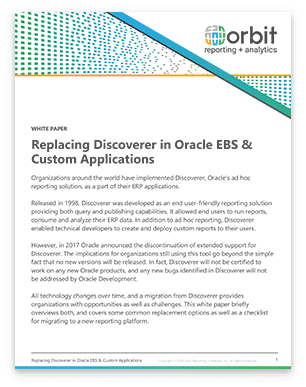 Replacing Discoverer in Oracle EBS & Custom Applications