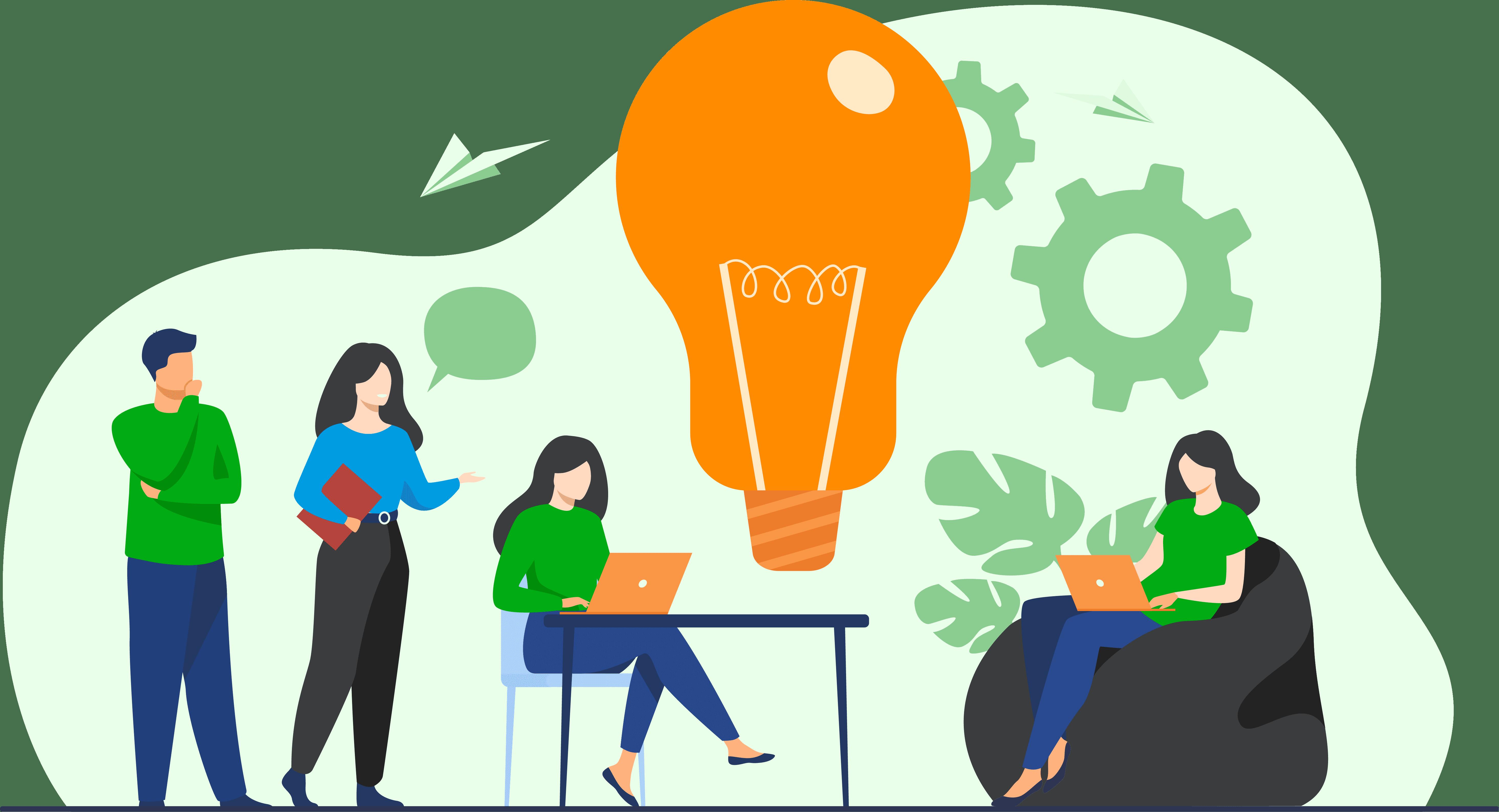 lightbulb meeting illustration